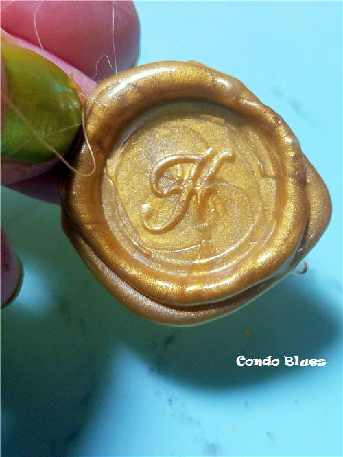 DIY faux wax seals for wedding invitations