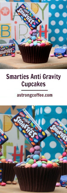 easy to make smarties anti gravity cupcakes, illusion cakes, pouring cakes