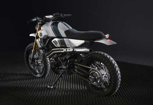 dengan jati dirinya sebagai motor retro akan apik apabila bisa disulap menjadi motor trac Modifikasi Motor Yamaha XSR700 Retro Rasa Traker