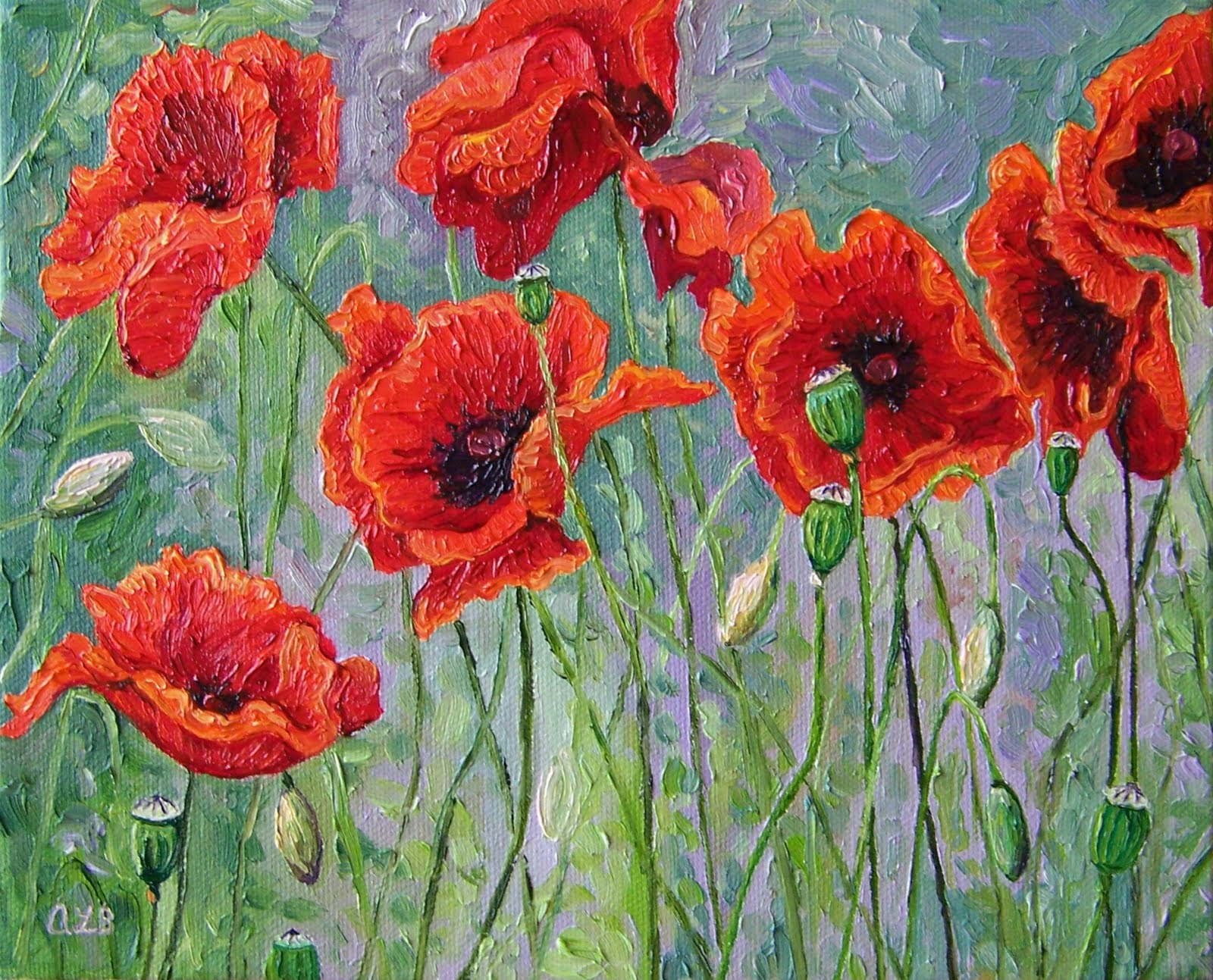 Audra S Oil Paintings Red Poppies 2011 8 X 10 Quot