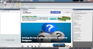 Screenshot 1 : DesignSpark Electrical Software Menggambar Atau Merancang Kelistrikan