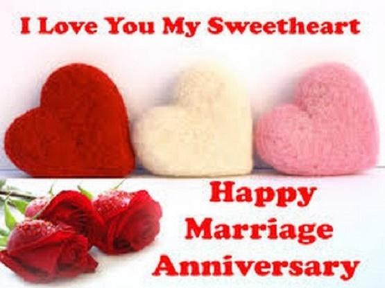 Happy Wedding Anniversary Hugging Image