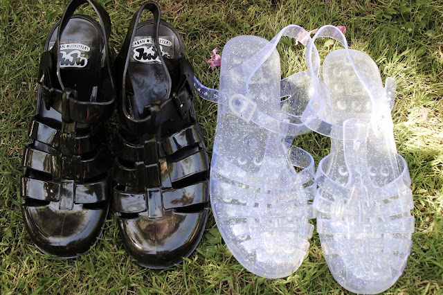 4aedb99c7307 Mk Jelly Sandals Black.Michael Michael Kors Mk Plate Jelly In Black ...