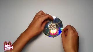 Membuat Tatakan Gelas unik dan keren Sendiri dari CD Bekas