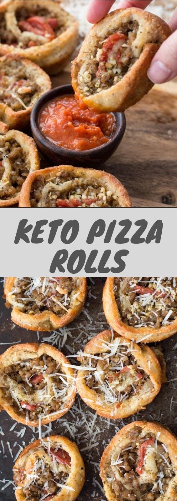 Keto Pizza Rolls #appetizer #dinner #keto #pizza #roll