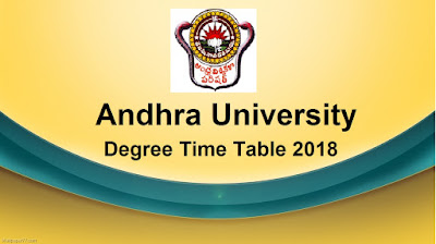 Manabadi AU Degree Time Table 2018 Download, Schools9 AU UG Time Table 2018