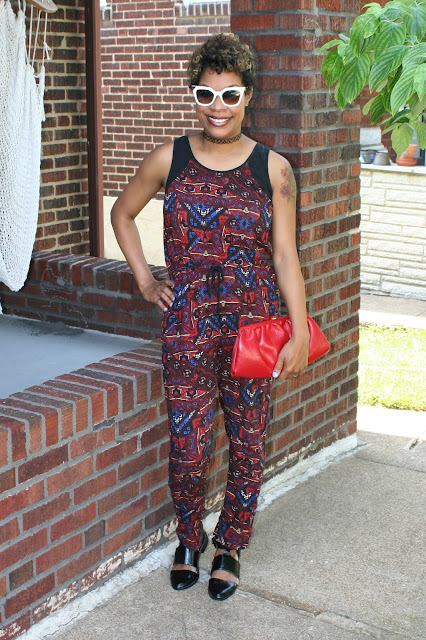 forever 21 tribal jumpsuit