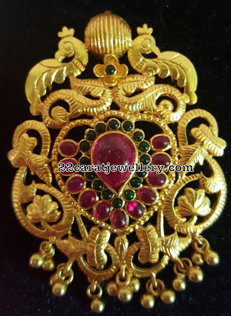 Antique Ruby Pendants in Silver