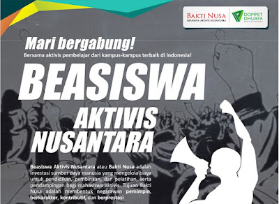 BEASISWA AKTIVIS NUSANTARA 2016