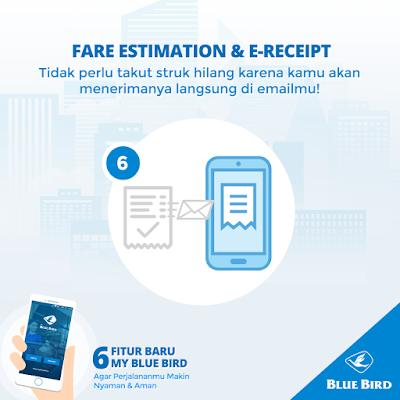 Fare Estimation and R-Reciept my blue bird