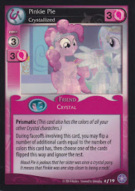 My Little Pony Pinkie Pie, Crystallized The Crystal Games CCG Card