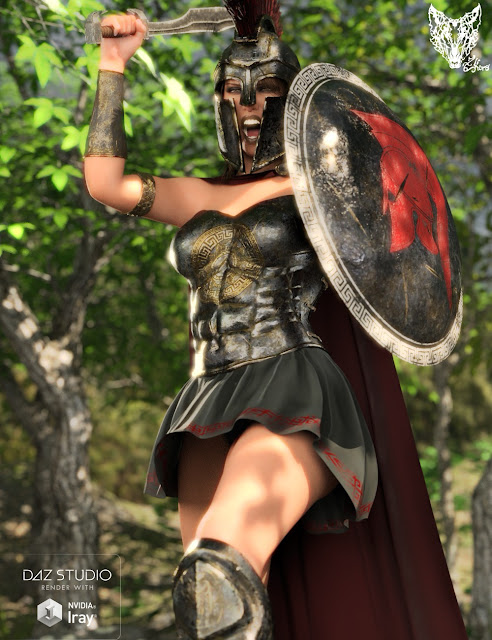 Spartan Armor for Genesis 3 and 8 Female