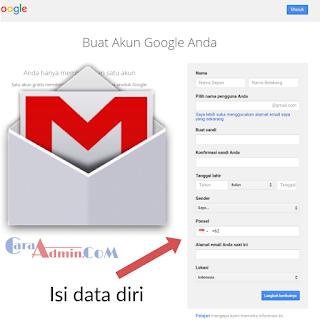 Cara daftar akun Gmail Google