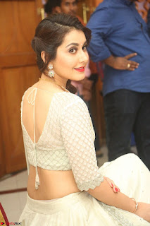 Raashi Khanan looks stunning in Crop Top Deep neck Choli Ghagra Transparent Chunni WOW ~ Exclusive Celebrities Galleries 008