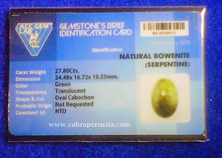 Cincin Batu Permata Bowenite - ZP 340
