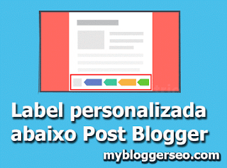 como personalizar label tag abaixo post do Blogger