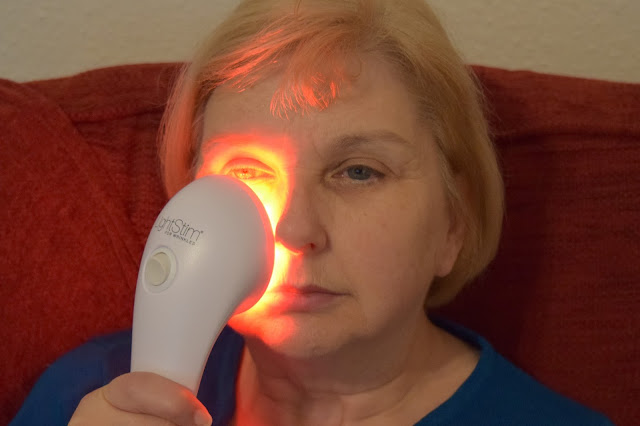 Woman Using LightStim For Wrinkles