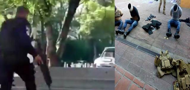 VIDEO: Momento en que el CJNG ataca al Ex Fiscal de Jalisco, hay seis sicarios detenidos