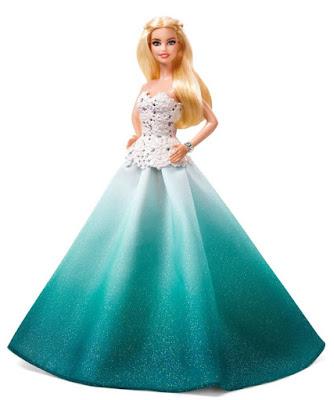JUGUETES - BARBIE Collector Muñeca Felices Fiestas 2016 Turquesa | Aqua Gown Mattel DGX98 | Holiday Barbie A partir de 6 años | Comprar en Amazon España