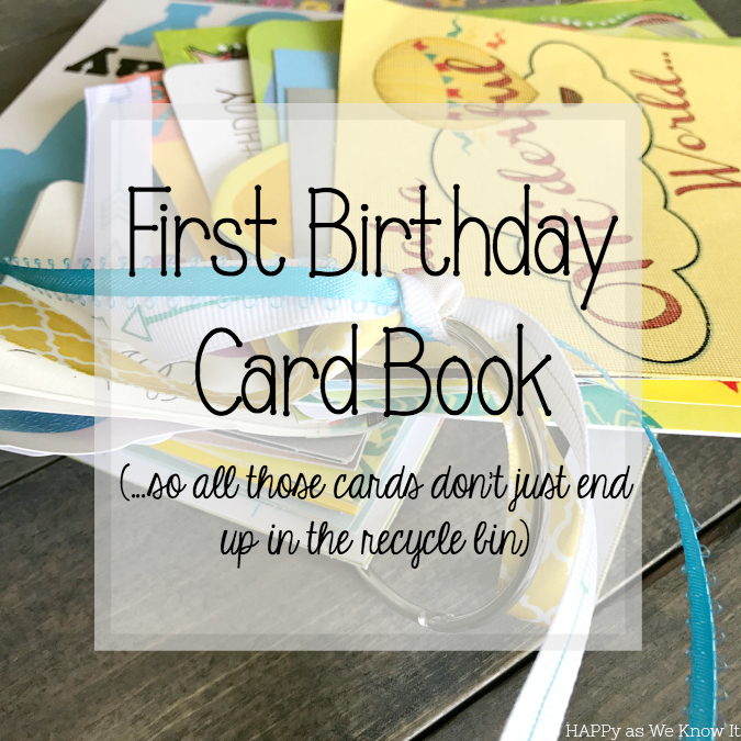 First Birthday Card Book Happy As We Know It