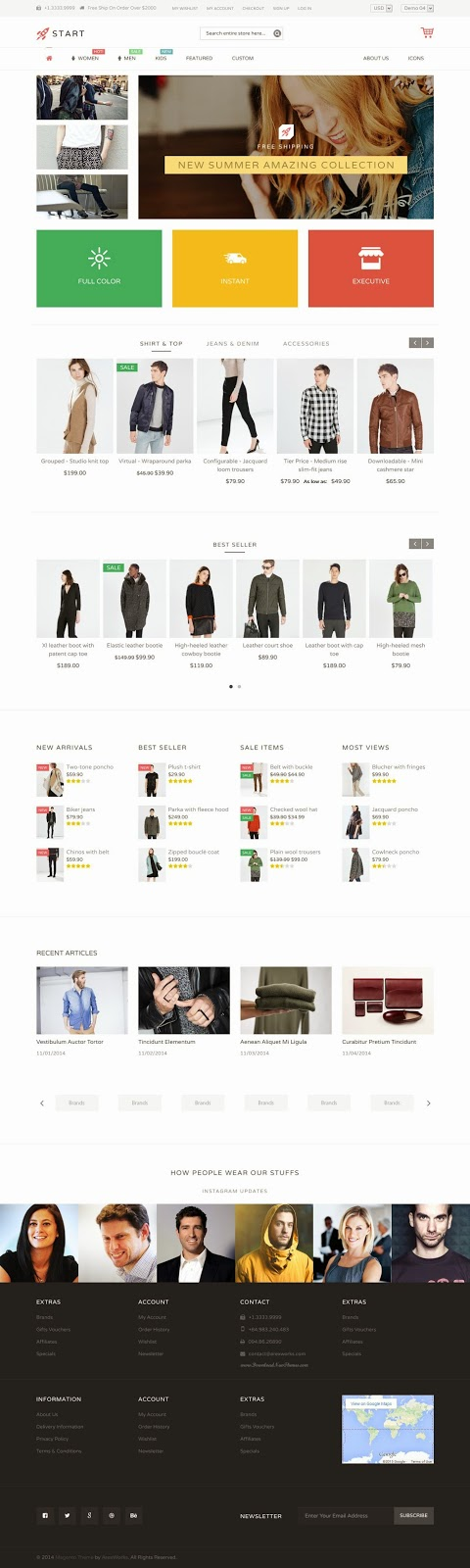 fashion store eCommerce Template 2015