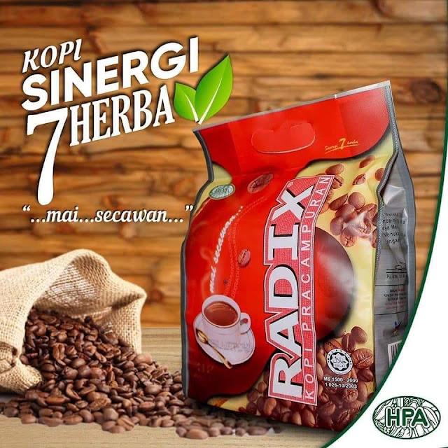 kopi pra campuran radix malaysia 32 sachet mai secawan