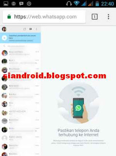 tampilan chatting di browser chrome android