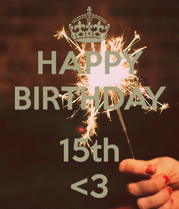 Happy Birthday 15th