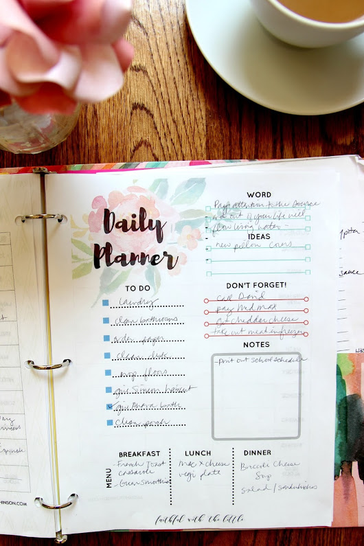 Free Printable Daily Planner + HP Instant Ink Review