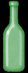 空き瓶のイラスト(緑)