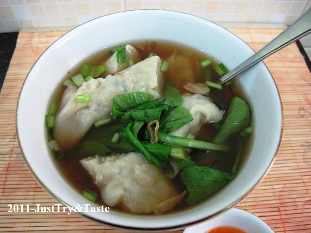 Resep Pangsit Kuah Isi Daging Ayam & Sayuran