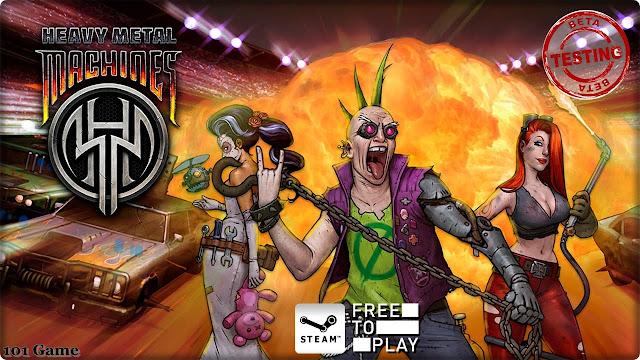 Heavy Metal Machines - играйте в сумасшедшие гонки онлайн.