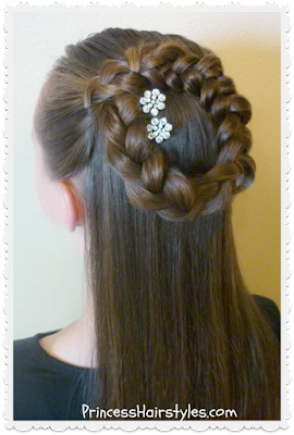 side halo braid or wreath braid tutorial