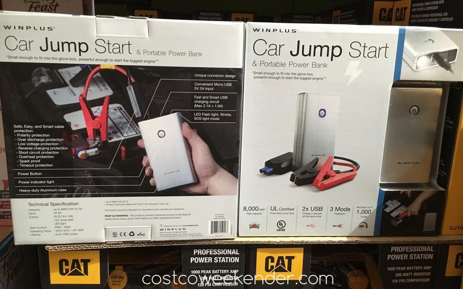 Winplus Car Jump Start Portable Power Bank Costco Weekender