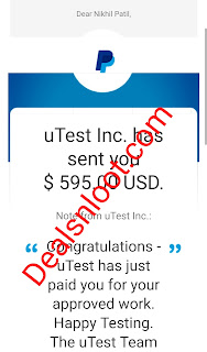 Utest Facebook Research Paypal Payment Proof