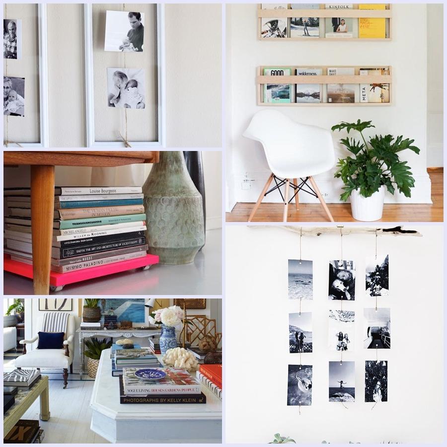 Exponha suas fotos e seus livros.