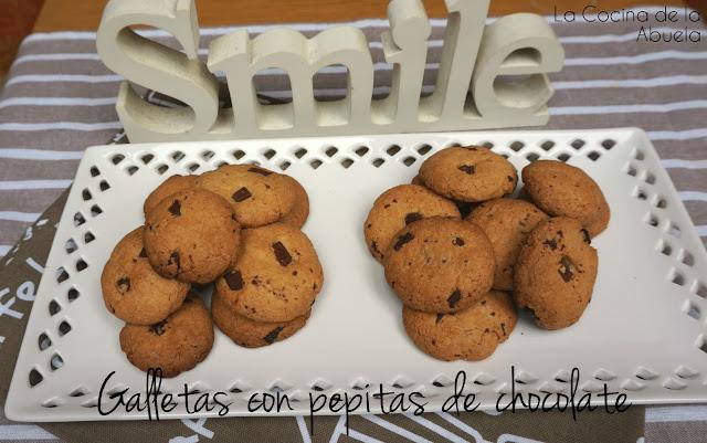 Galletas chocolate crujientes receta casera presentación