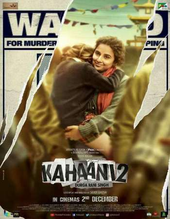 Poster Of Kahaani 2 2016 Hindi 720p DVDRip ESubs Watch Online Free Download downloadhub.in