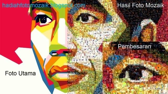 Foto Mozaik Online Jokowi