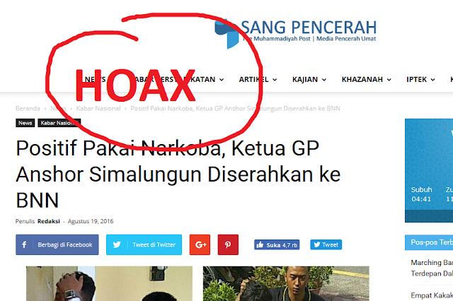Dituduh Media Muhammadiyah pakai Narkoba, ini Klarifikasi Ketua GP Ansor Simalungun