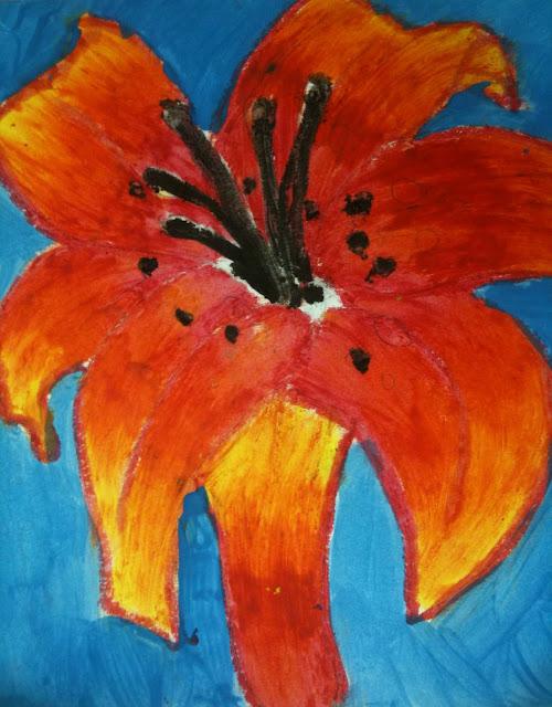 The Helpful Art Teacher: A garden of flowers, blending ...