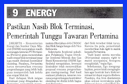 Ensure Termination Block Fate, Government Wait Pertamina Bid