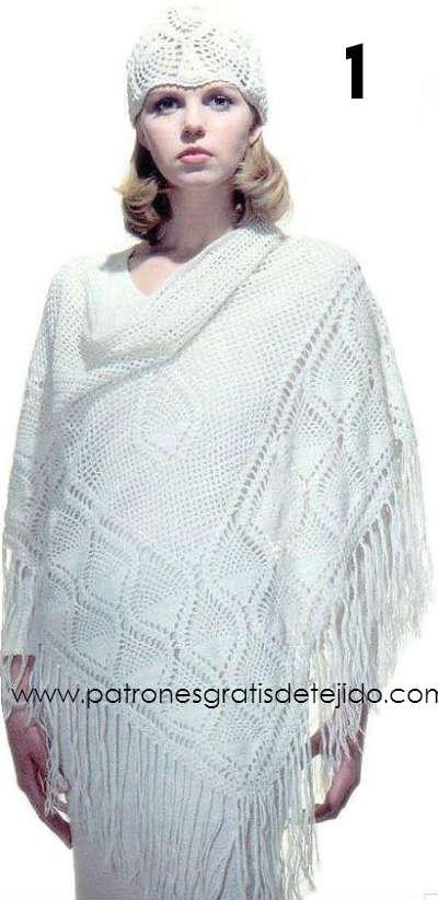 esquema crochet de chal