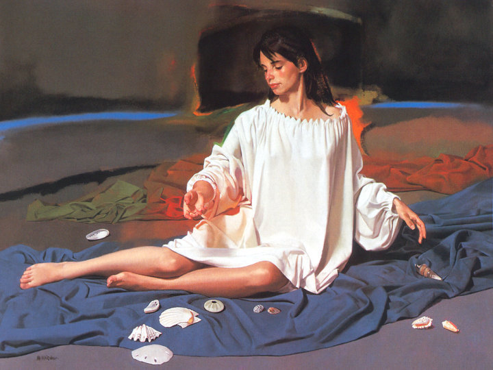 William Whitaker 1943 | American Figurative painter | Painting