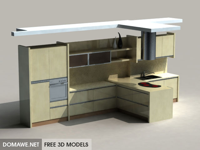 DOMAWE net: Kitchen Furniture Set 23 - Free 3D Models