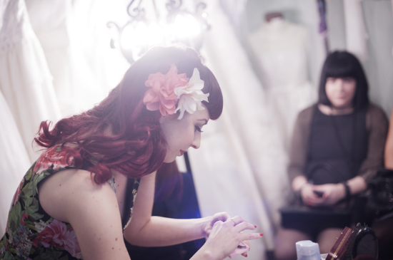 Vintage Tea Party, Nadia Manzato Wedding Couture, pin-up style