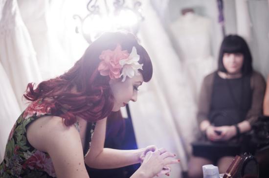 Vintage Tea Party, Nadia Manzato Wedding Couture, pin-up style