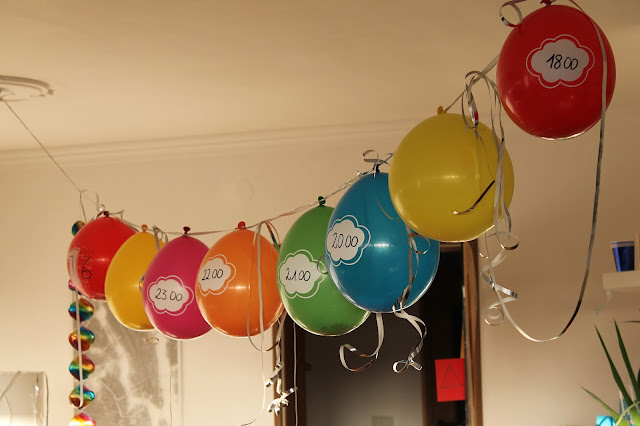 Countdown Ballons Silvester New Years eve