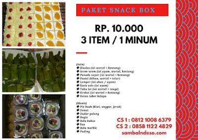 layanan Order Snack Box isi 3 isi 4 di Bintaro