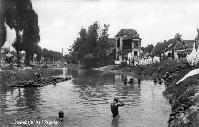 Pegirian River, Soerabaja c 1930